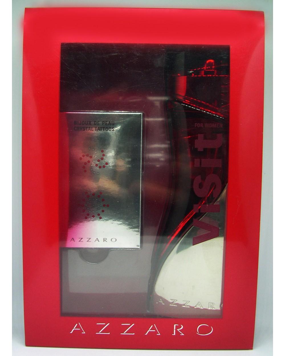 Azzaro Visit Women Eau De Parfum 50ml Swarovski Crystal Gift Set