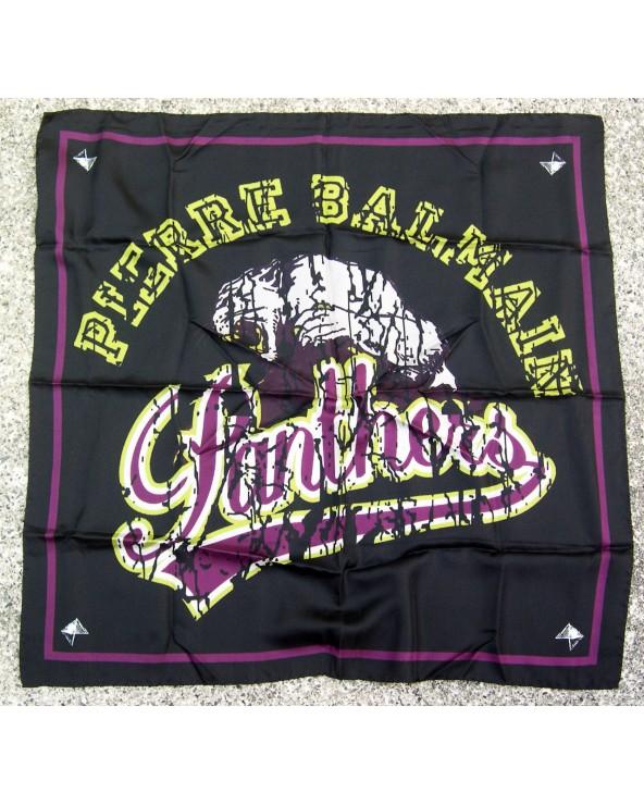 Pierre Balmain Foulard Panthers 70x70cm  Purple & Yellow