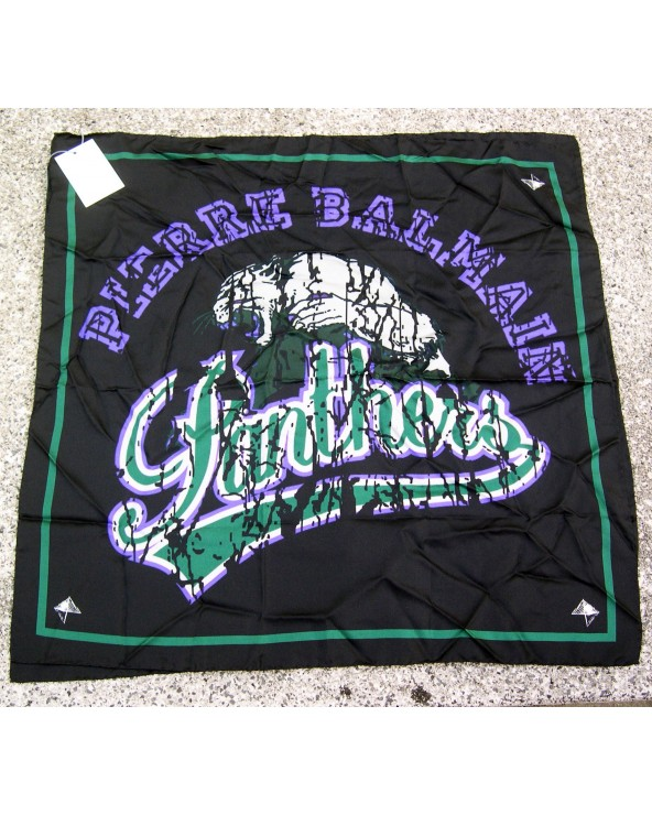 Pierre Balmain Foulard Panthers 70x70cm Green& Violet