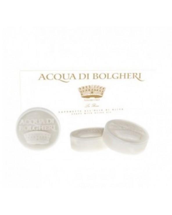Acqua di Bolgheri Olive Oil Bars Soap White Flowers Lily 3x100gr