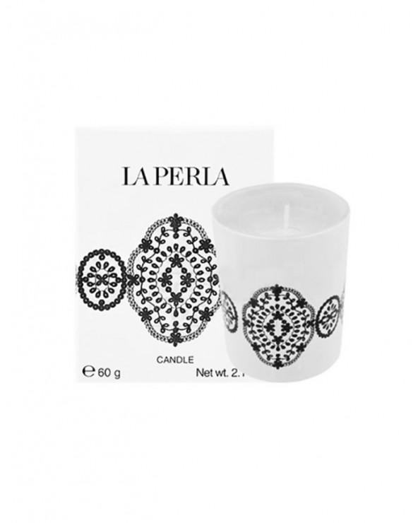 La Perla Scented White Candle 60gr
