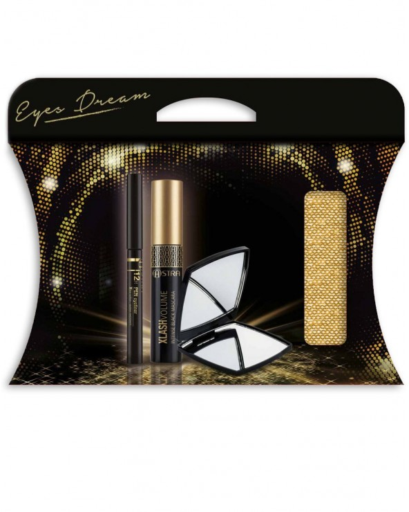 Astra Eyes Dream Pochette with 12H Pen Eyeliner & Xlash Volume & Mirror