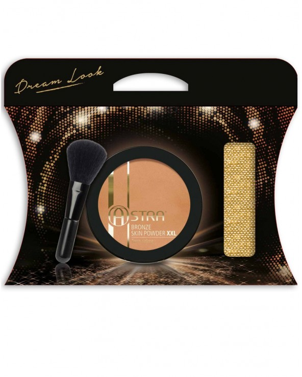 Astra Dream Look Pochette with Bronze Skin Powder XXL n. 01 &  Face Brush