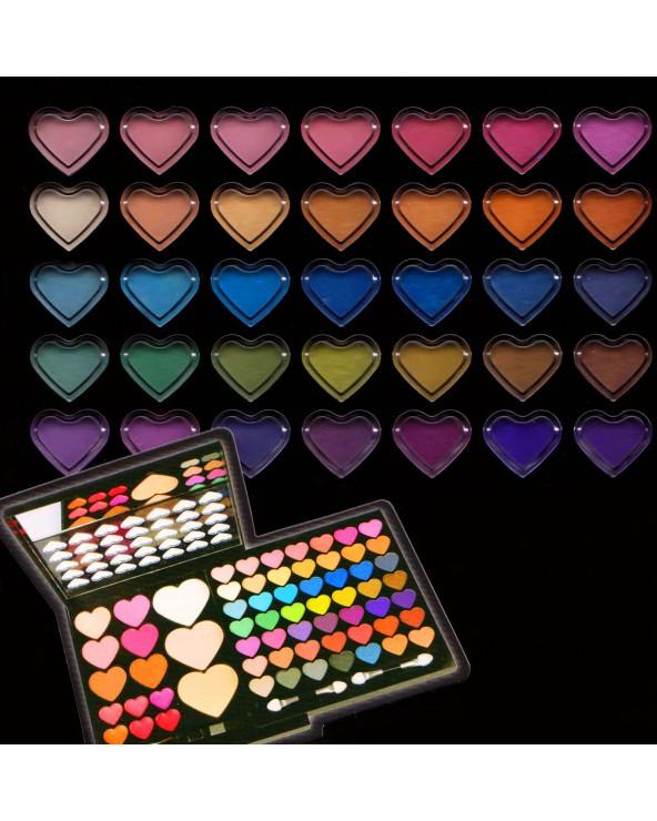 BriConti Trousse Hearts 64 Eyeshadow, Blush, Lipgloss, Face Powder