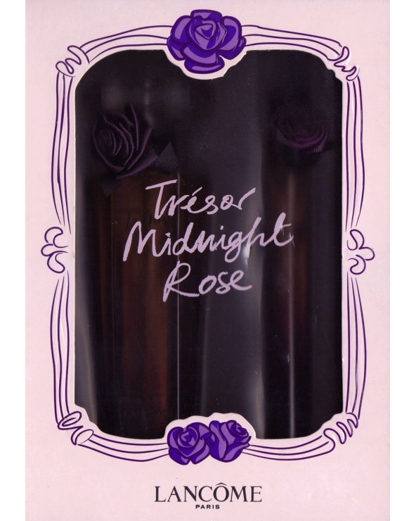 Lancome Tresor Midnight Rose Gift Set Eau De Parfum + Vapo Sac